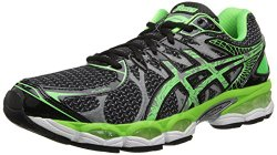 running shoe men ASICS GEL Nimbus 16 Lite Show green black