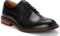 Leather Shoes for Men with Concealed Orthotic Support